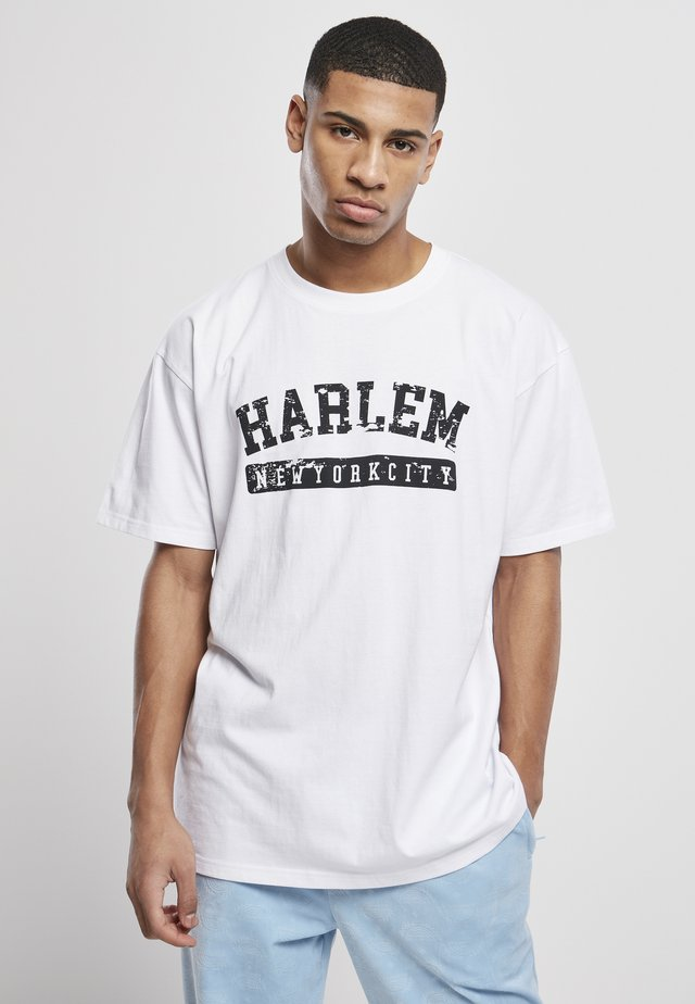 HARLEM - T-shirt con stampa - white