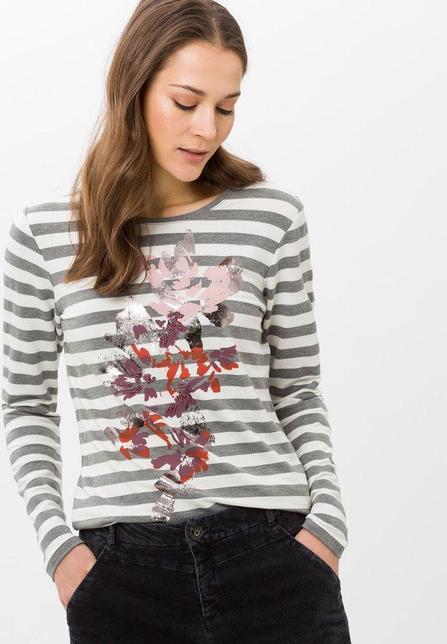 STYLE CARINA - Langarmshirt - graphit mel.
