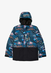 Quiksilver - MISS BLOC - Snowboard jacket - black bark to the moon - 3