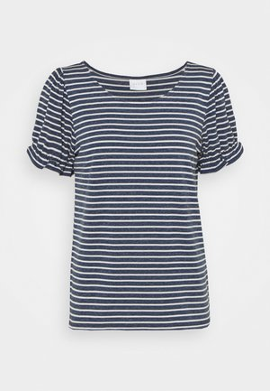 VIANIKA - T-shirt med print - navy blazer/cloud dancer