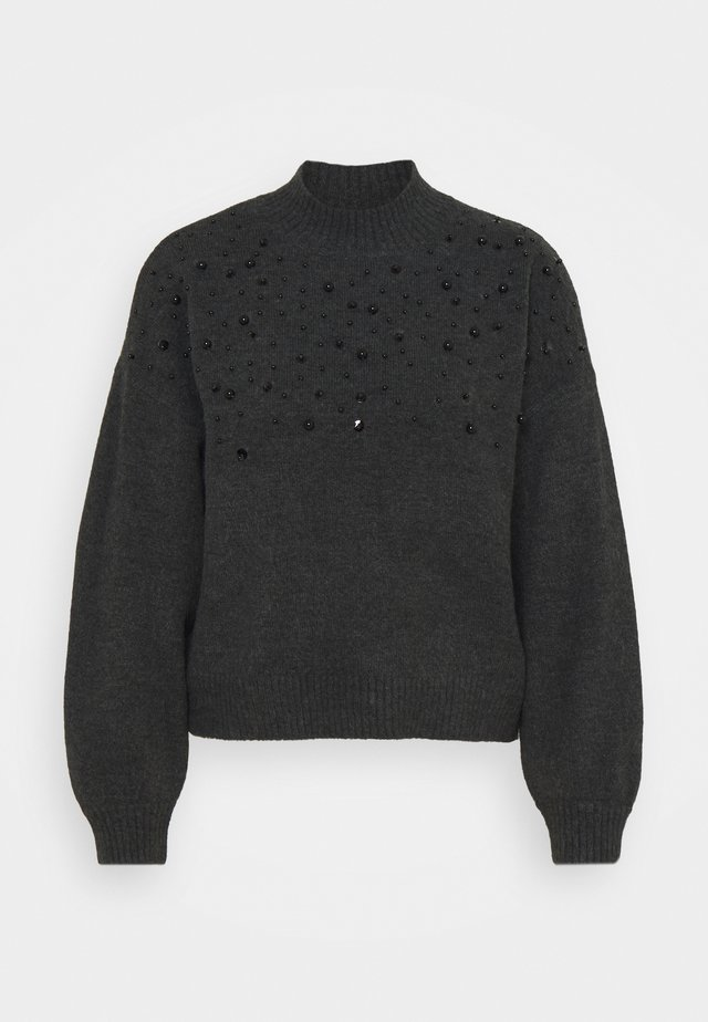 SCATTER BEAD JUMPER - Strikkegenser - dark grey