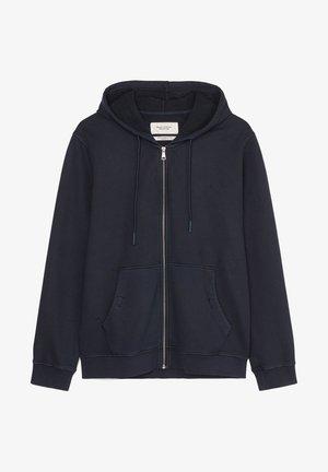 Zip-up hoodie - scandinavian blue