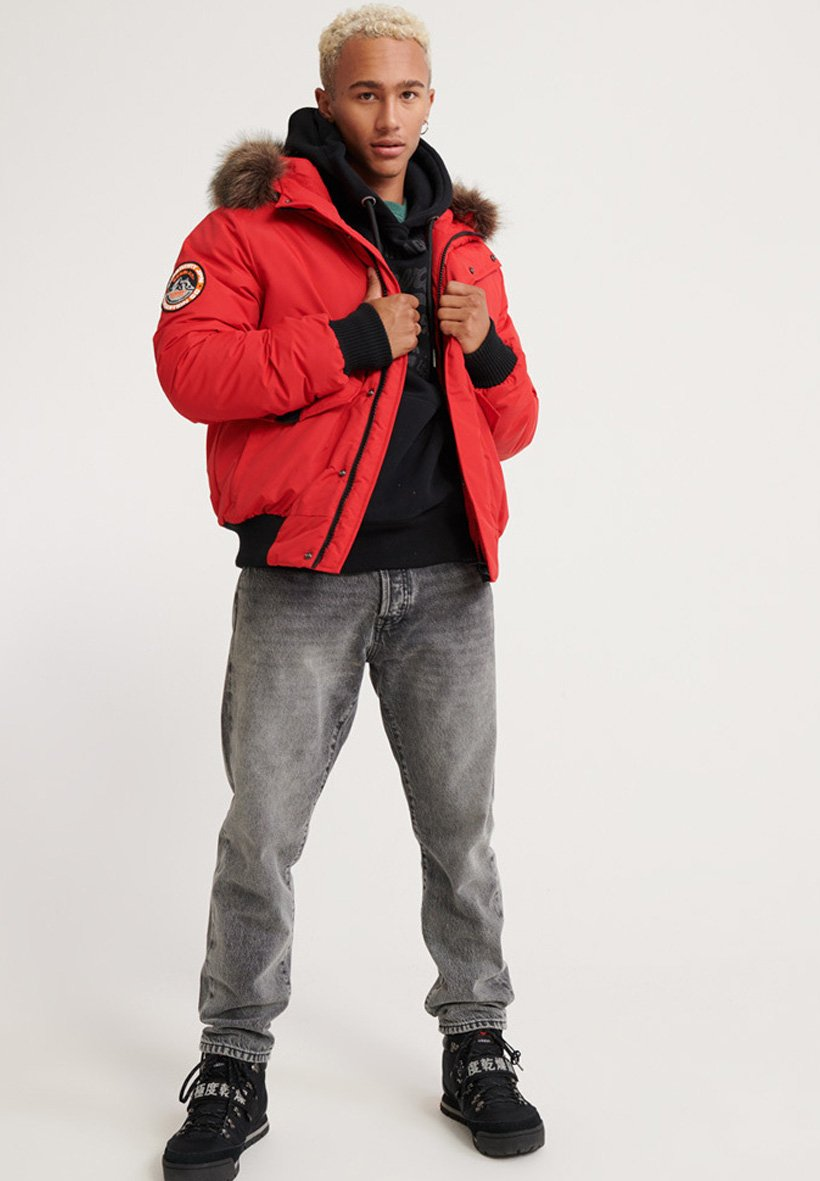 Superdry Everest - Vinterjakke Purple/rød