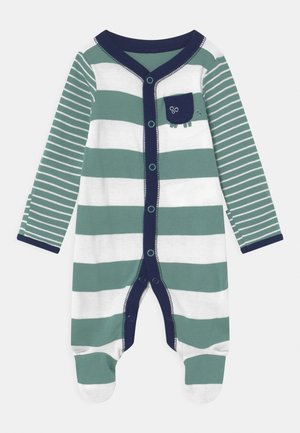 STRIPE - Sleep suit - green