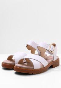 Clarks - Sandals - weißes leder - 3