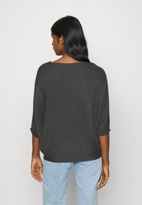 JDY - JDYNEW BEHAVE BATSLEEVE - Strickpullover - dark grey melange - 2