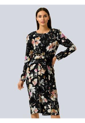 Shift dress - schwarz,rosé,braun