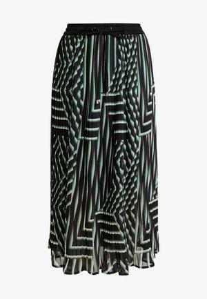 KADAMITA SKIRT - Áčková sukně - black deep/irish green