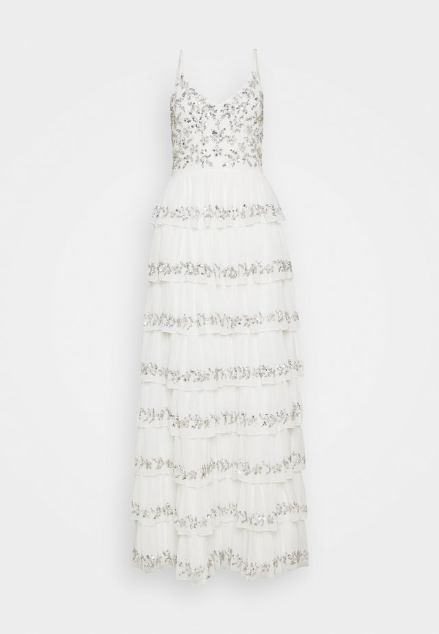 TIERED EMBELLISHED CAMI DRESS - Suknia balowa - white