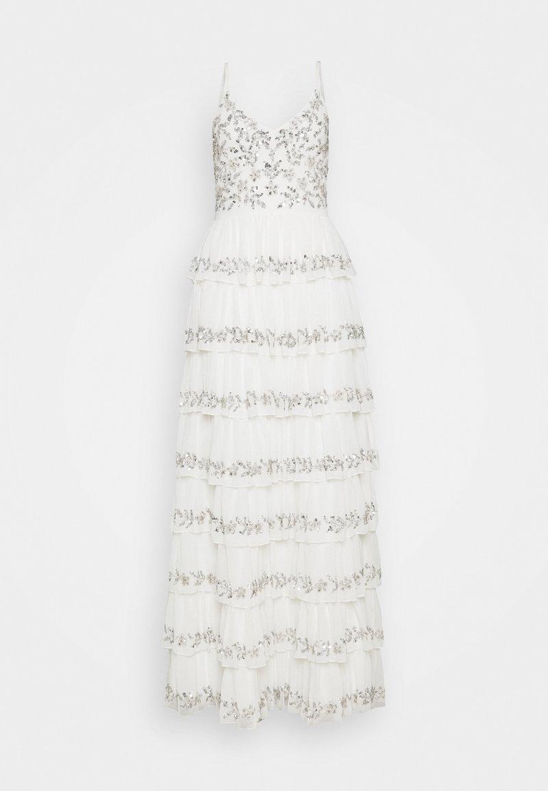 Maya Deluxe - TIERED EMBELLISHED CAMI DRESS - Společenské šaty - white