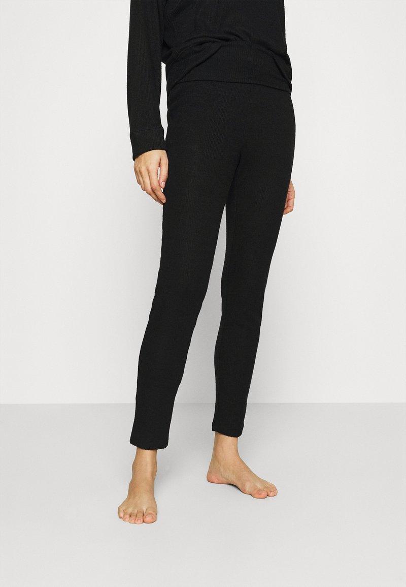 GAP - FOLDOVER  - Pyjama bottoms - true black