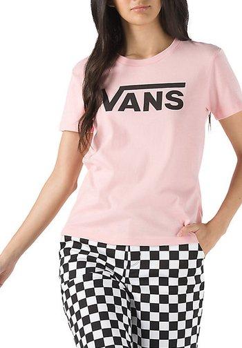 WM FLYING V CREW TEE - Print T-shirt - powder pink