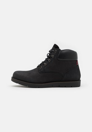 JAXED - Lace-up ankle boots - full black