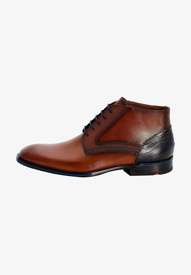 GILMORE - Lace-up ankle boots - braun