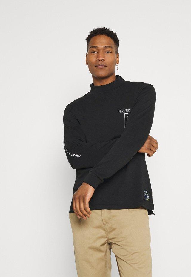 RRHARTLEY HIGH NECK - T-shirt à manches longues - black