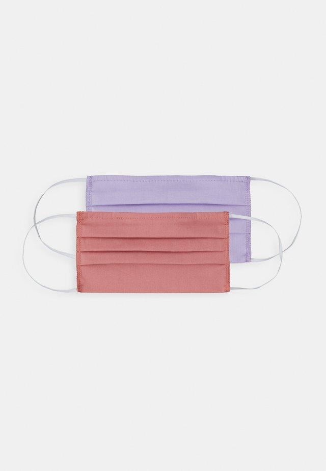 2 PACK - Mascarilla de tela - lilac/coral