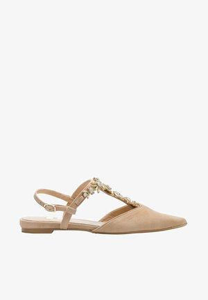 TERRA - T-bar sandals - amalfi sand