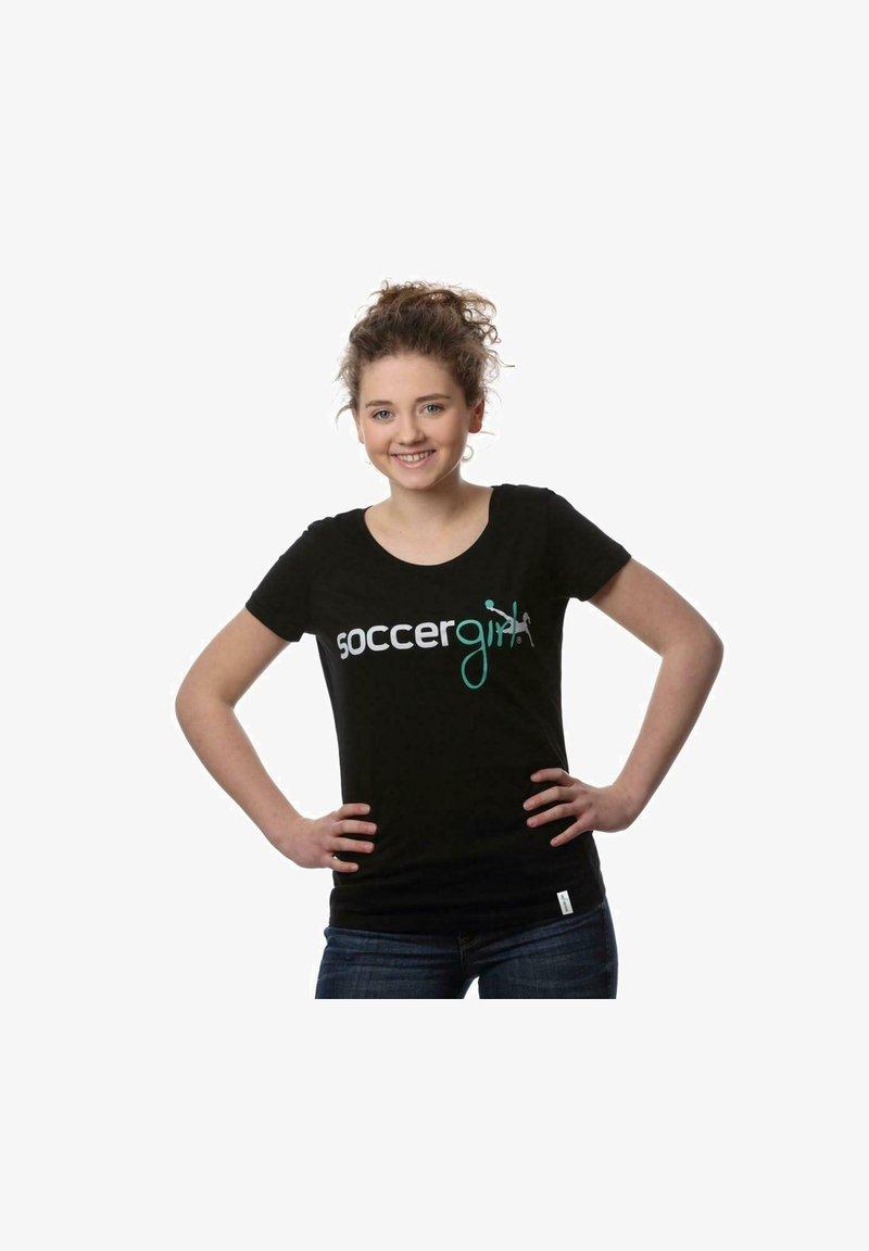 soccergirl - LENA - Print T-shirt - schwarz