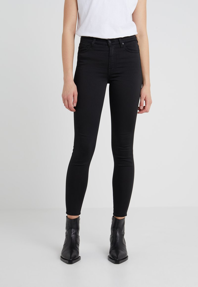 7 for all mankind - CROP - Skinny džíny - black
