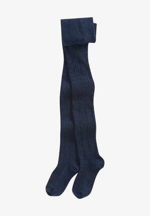 CABLE - Over-the-knee socks - dark blue