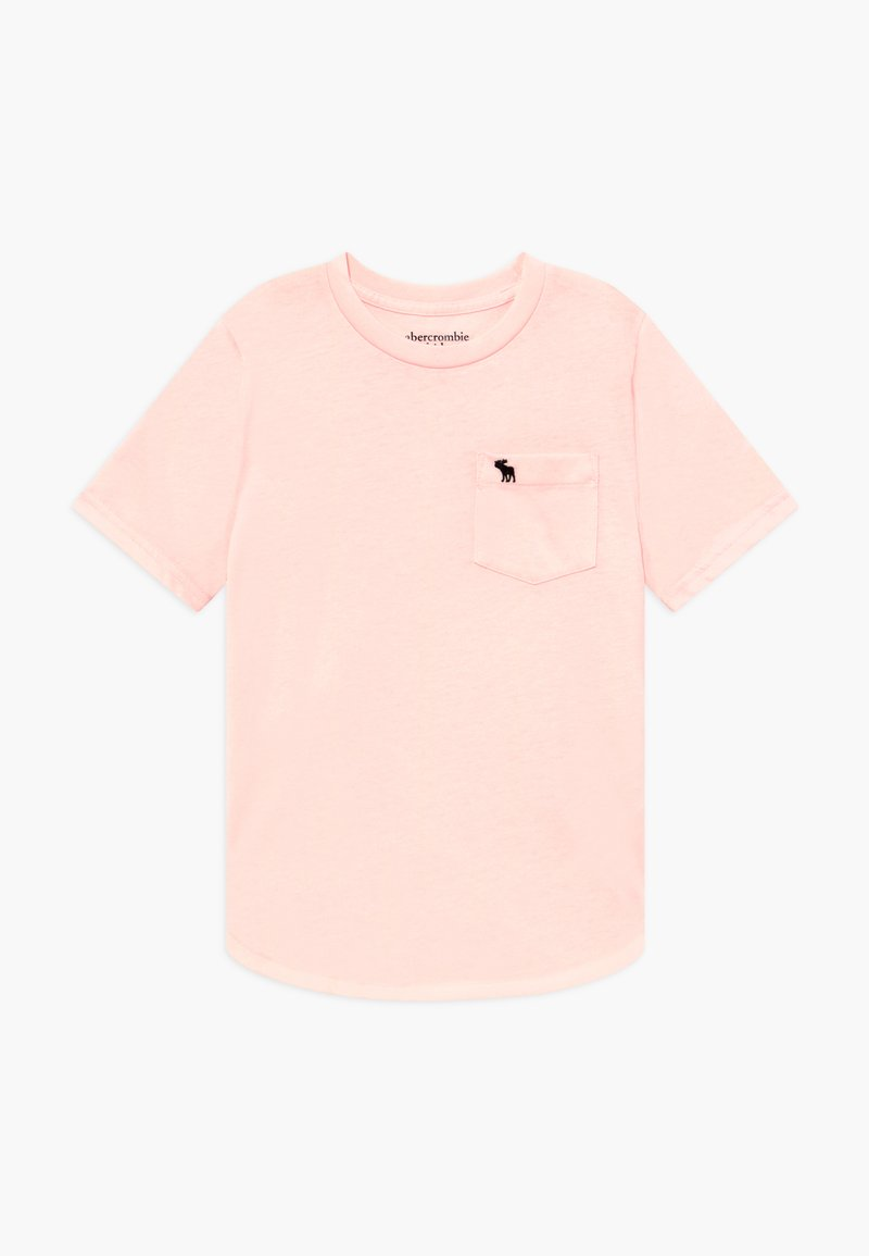 Abercrombie & Fitch - CURVED - T-shirt basic - pink