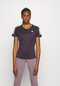 adidas Performance - OWN THE RUN TEE - T-shirts med print - purple - 0