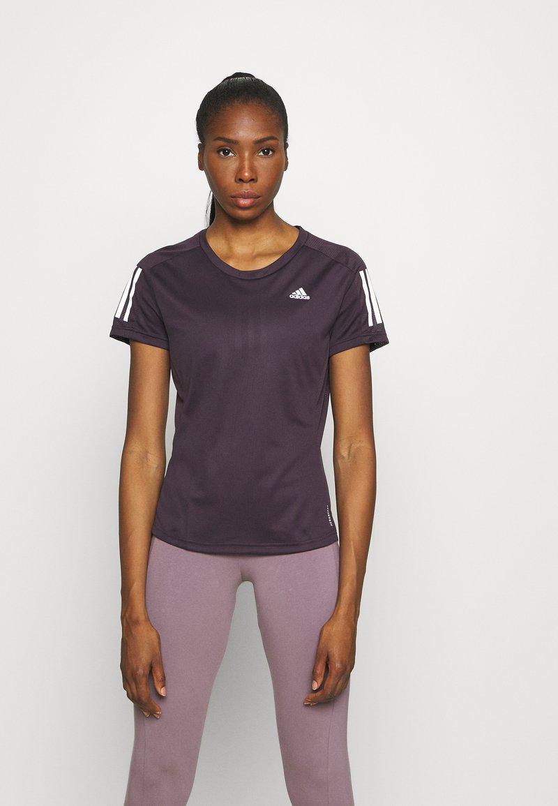 adidas Performance - OWN THE RUN TEE - T-shirts med print - purple