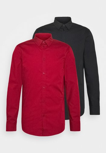2 PACK - Formální košile - black/red