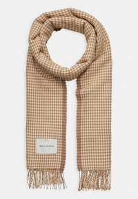 Marc O'Polo - SCARF WOVEN STRUCTURED HOUNDSTOOT - Scarf - beige - 0