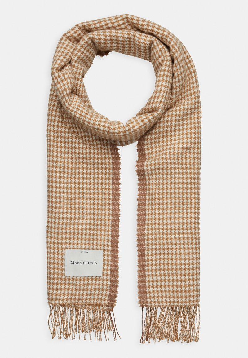 Marc O'Polo - SCARF WOVEN STRUCTURED HOUNDSTOOT - Scarf - beige