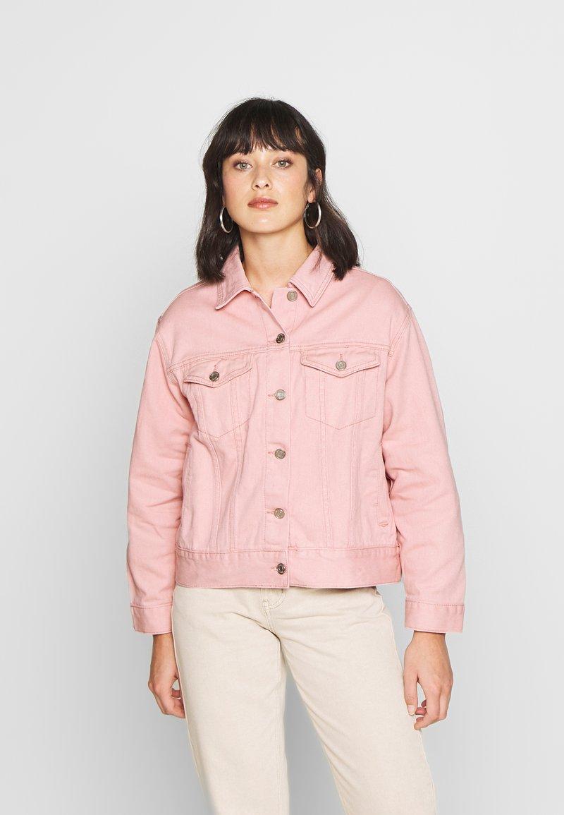Missguided Petite - OVERSIZED JACKET - Denim jacket - blush