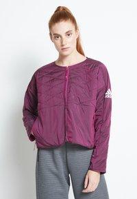 adidas Performance - PADDED - Sports jacket - berry - 0