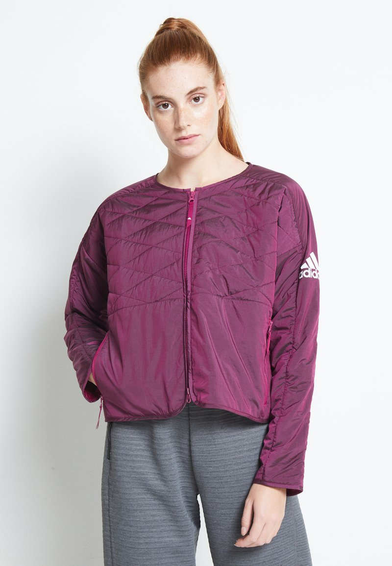 adidas Performance - PADDED - Sports jacket - berry