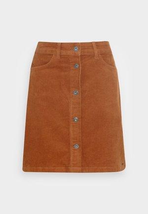 CORDUROY SKIRT - Minisukně - amber brown