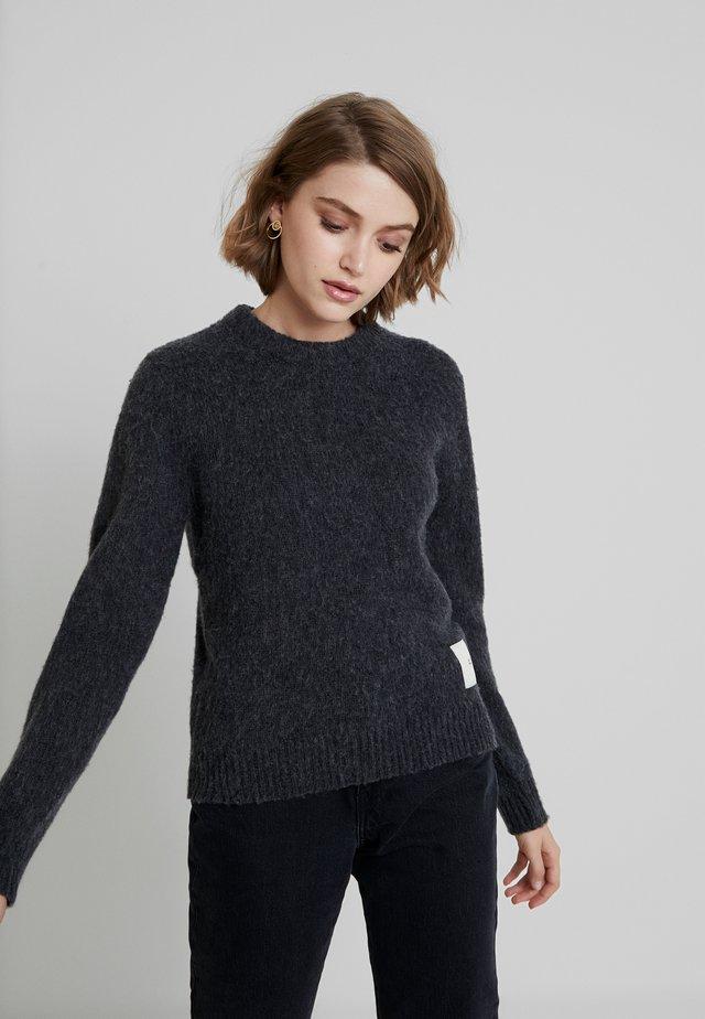 MAYA - Sweter - med grey melange