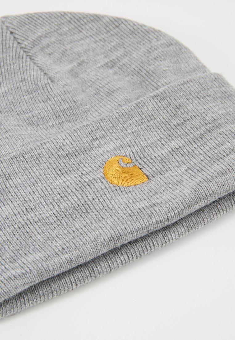 Carhartt Wip Chase Beanie - Mütze Grey Heather/gold/grau-meliert