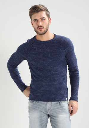 Strickpullover - mottled blue
