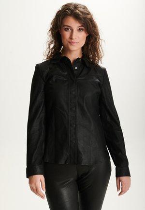 STEPHANIE - Button-down blouse - black