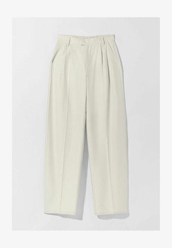 WIDE LEG - Trousers - beige