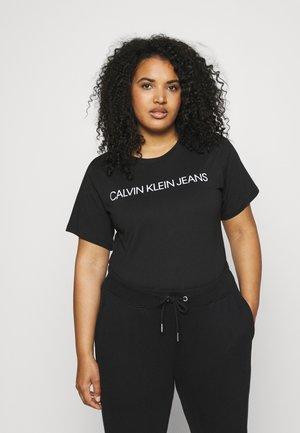 INSTITUTIONAL TEE - Print T-shirt - black