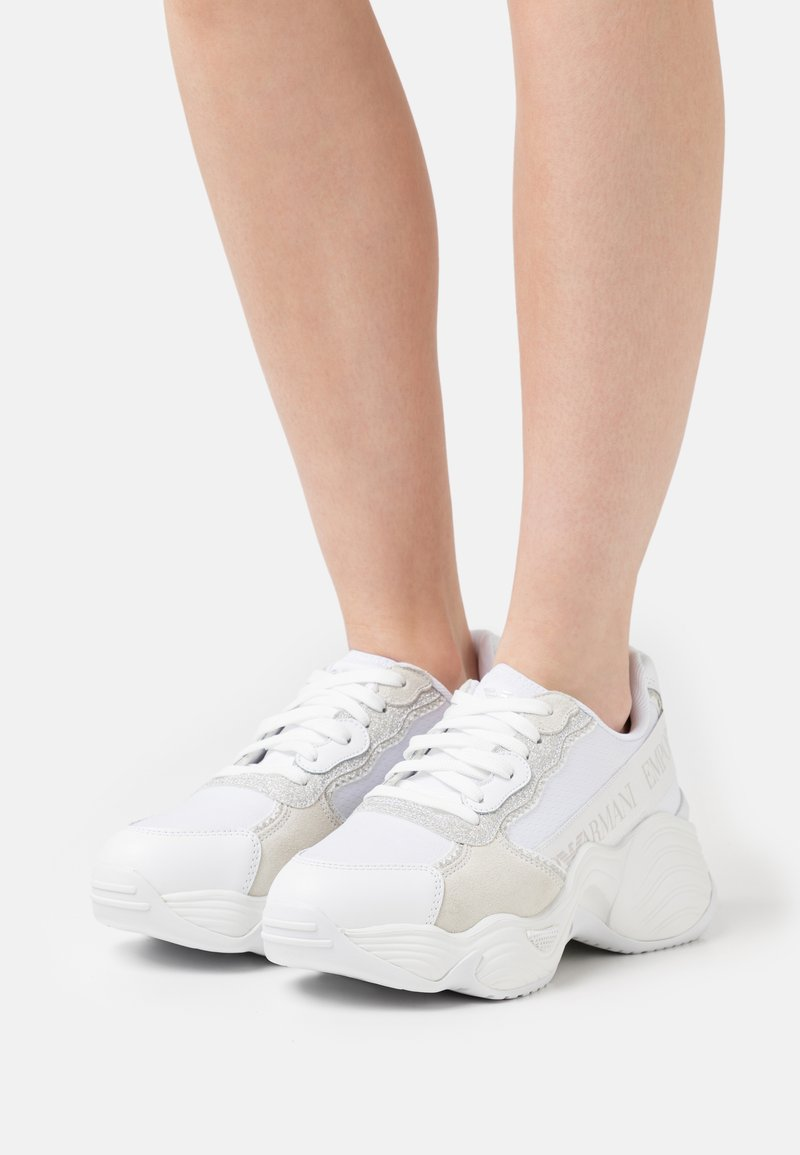 Emporio Armani - Sneakers laag - white/silver