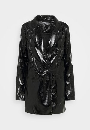 SHINY - Short coat - black