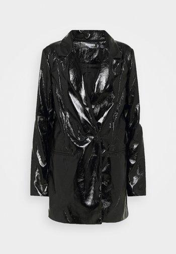 SHINY - Short coat - black