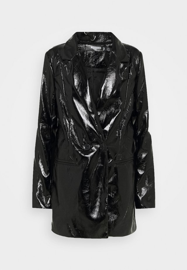 SHINY - Manteau court - black