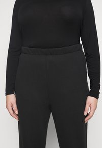 Cotton On Curve - HIGH RISE TRACKPANT - Tracksuit bottoms - washed black - 3