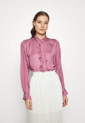 MIMI BLOUSE - Button-down blouse - dirty pink