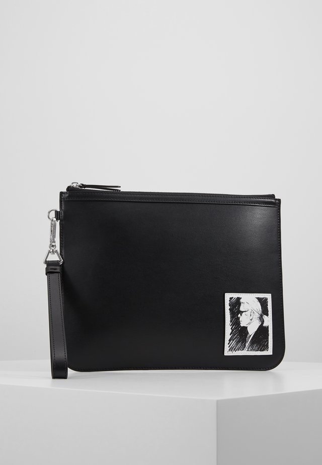 KARL LEGEND LUXURY - Psaníčko - black