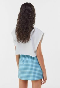 Bershka - A-line skirt - blue - 2