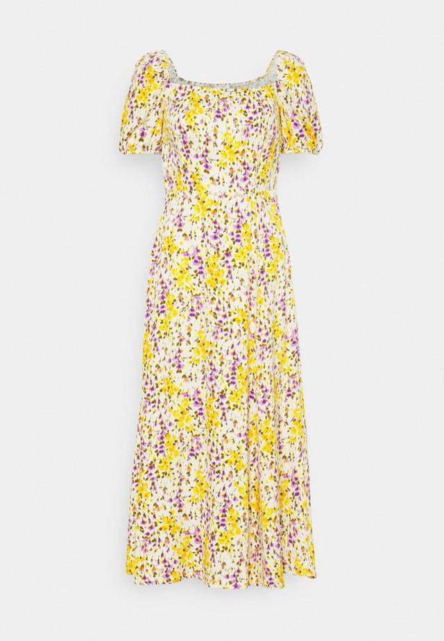 Korte jurk - yellow/purple