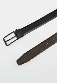 Massimo Dutti - Belt business - black - 4